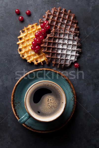 コーヒー 液果類 先頭 表示 フルーツ 背景 ストックフォト © karandaev