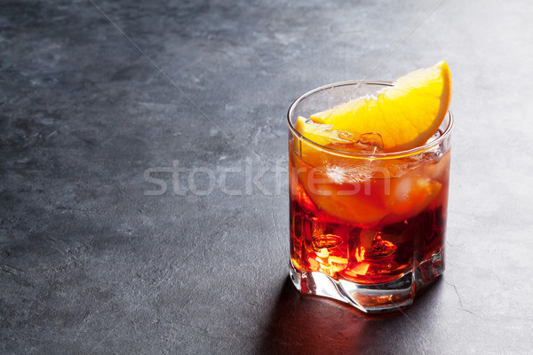 Negroni cocktail Stock photo © karandaev