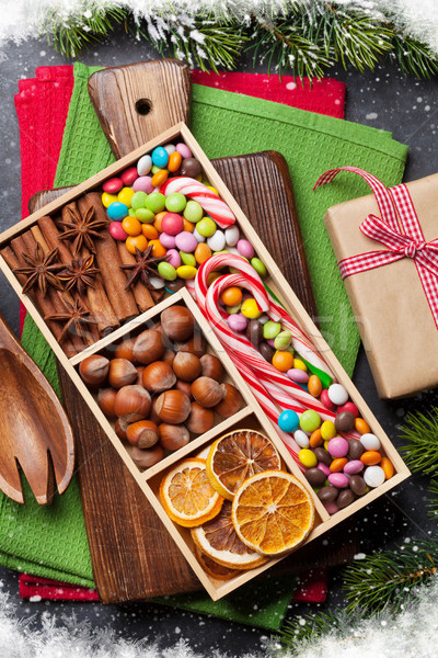 Christmas food decor and cooking utensils Stock photo © karandaev