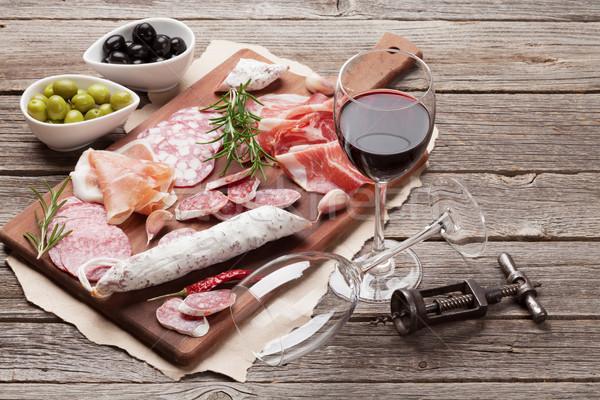 салями ветчиной колбаса прошутто вино Сток-фото © karandaev