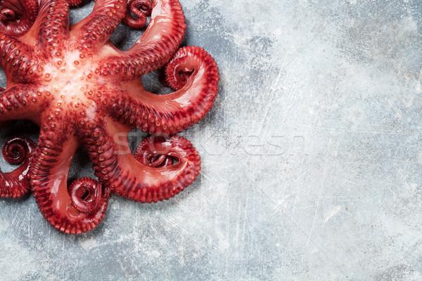 Ahtapot pişirme taş tablo deniz ürünleri Stok fotoğraf © karandaev