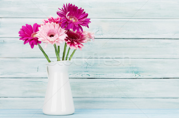 Gerbera flowers bouquet Stock photo © karandaev