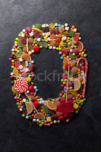 Number zero made from candies Stock photo © karandaev