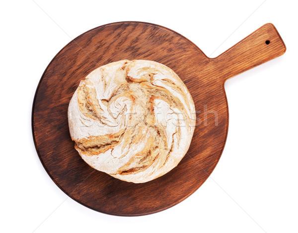 Somun ekmek yalıtılmış beyaz üst Stok fotoğraf © karandaev