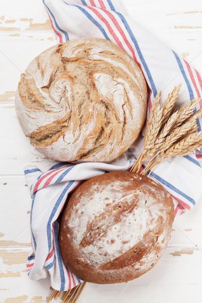 Various crusty bread Stock photo © karandaev