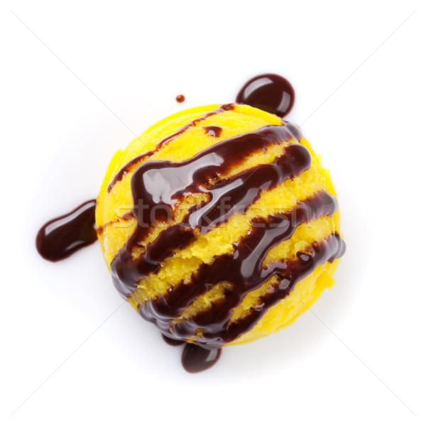 Dondurma kepçe çikolata yalıtılmış beyaz yaz Stok fotoğraf © karandaev