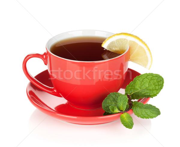 Vermelho limão de isolado branco Foto stock © karandaev