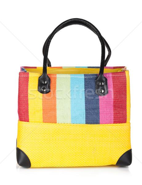 Colorful beach bag Stock photo © karandaev