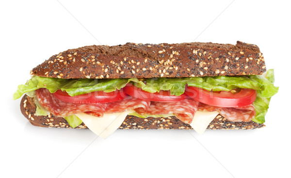 Fresh sandwich with meat and vegetables Stock photo © karandaev