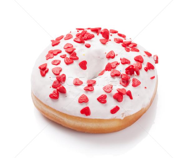 Donut with heart shaped decor Stock photo © karandaev