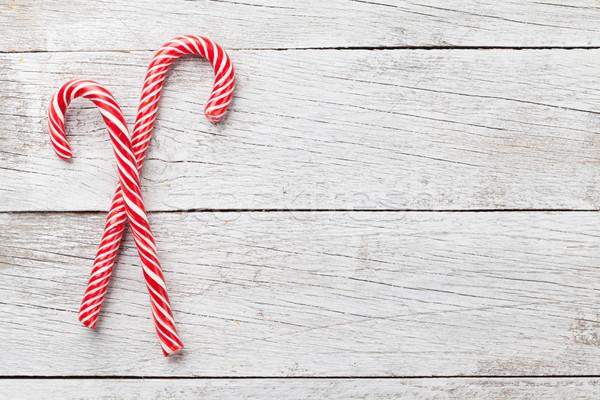Stock fotó: Karácsony · cukorka · fa · asztal · felső · kilátás · űr