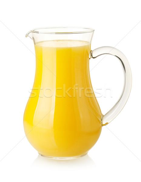 Orange juice in pitcher Stock photo © karandaev