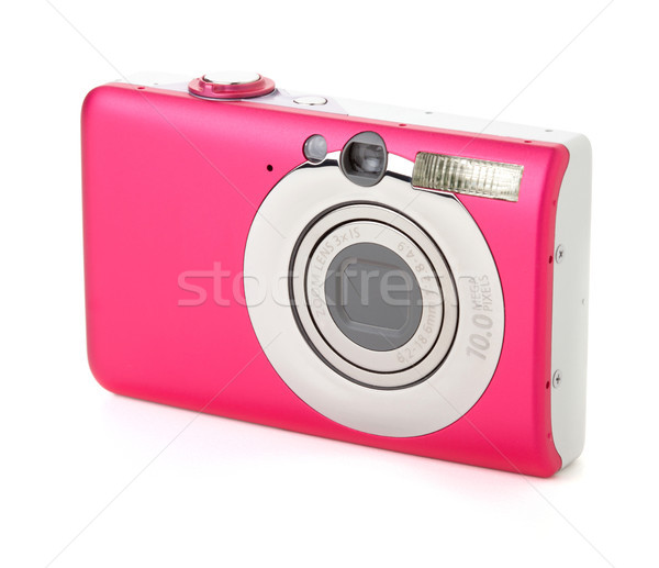 Contemporáneo cámara digital aislado blanco digital foto Foto stock © karandaev