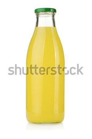 Cytryny soku butelki szkła odizolowany biały Zdjęcia stock © karandaev