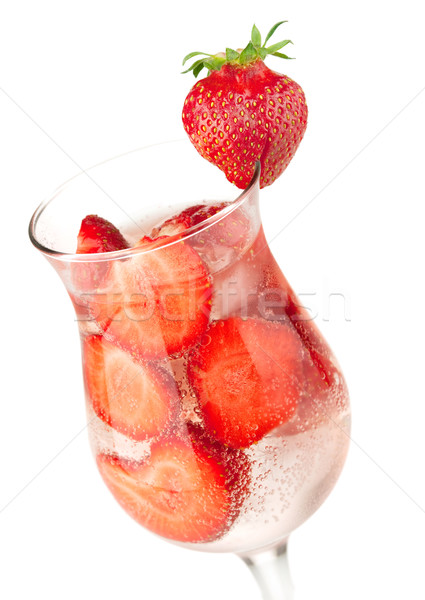 Strawberry fizz cocktail Stock photo © karandaev