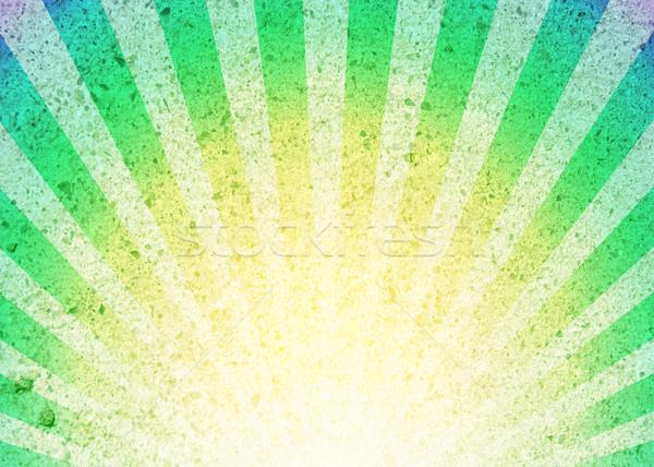 レトロな ストライプ パターン 太陽 抽象的な 光 ストックフォト © karandaev