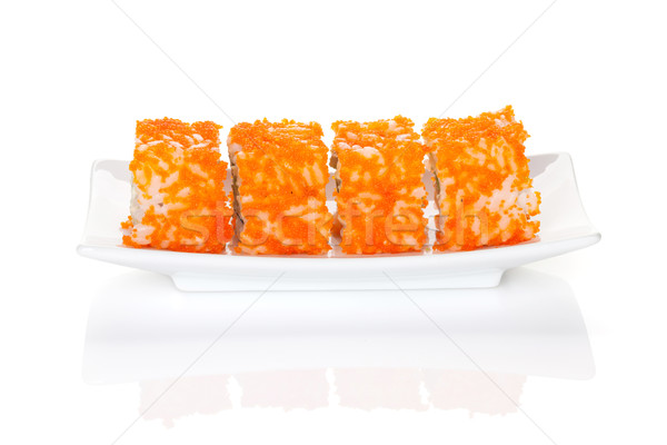 Sushi maki isolato bianco sfondo cena Foto d'archivio © karandaev