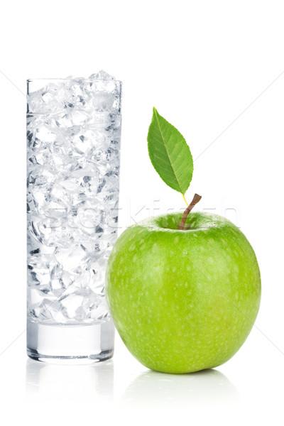 üveg víz jég friss zöld alma Stock fotó © karandaev