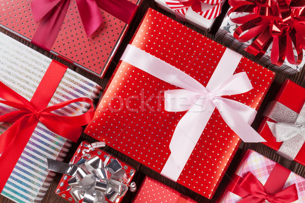 Christmas gift boxes Stock photo © karandaev