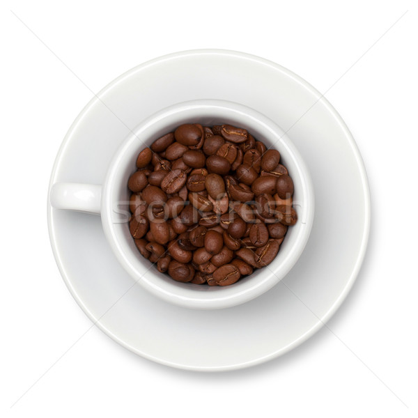 Coffee cup with beans Stock photo © karandaev