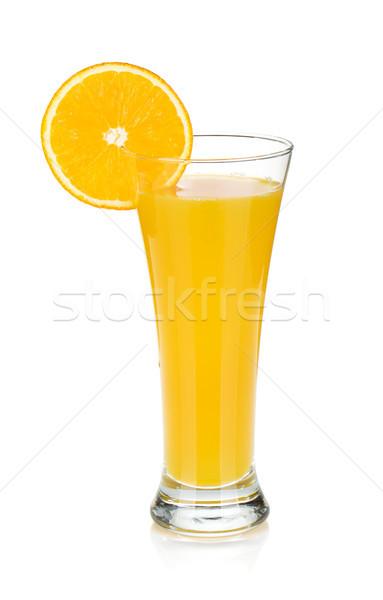 オレンジジュース 孤立した 白 背景 夏 ドリンク ストックフォト © karandaev