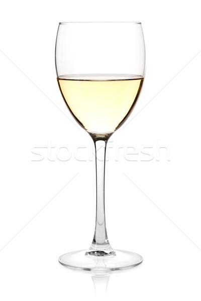 Wine collection - White wine in glass Stock photo © karandaev