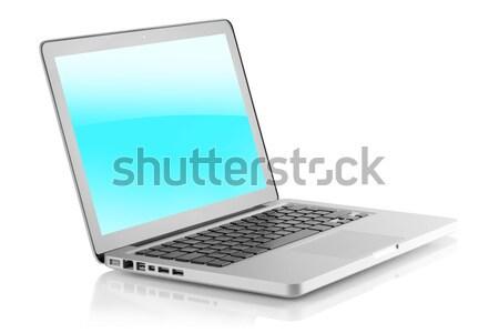 Laptop with blank screen Stock photo © karandaev