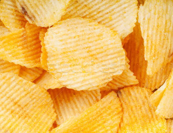 Chips hoop partij achtergrond eten Stockfoto © karandaev