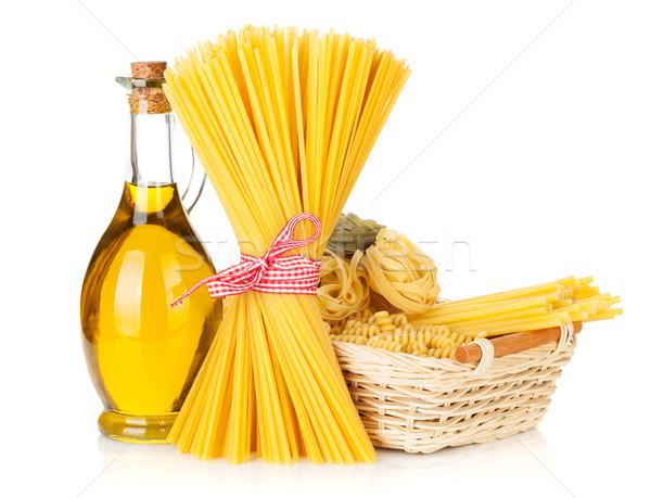 Pasta and olive oil bottle Stock photo © karandaev