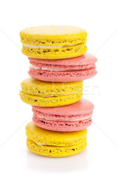 カラフル マカロン クッキー 孤立した 白 食品 ストックフォト © karandaev