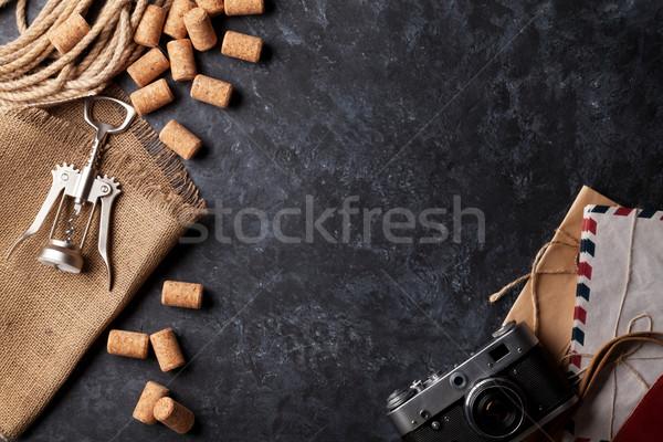 Wijn donkere steen top Stockfoto © karandaev