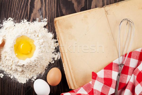 ヴィンテージ レシピ 図書 材料 料理 ストックフォト © karandaev