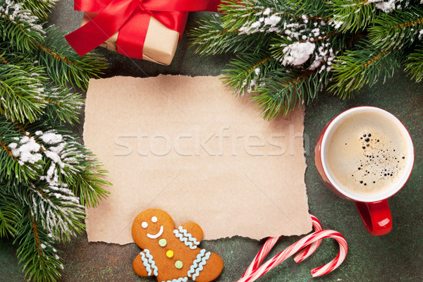 Piece of paper for christmas wishes Stock photo © karandaev
