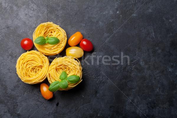 Nido pasta pietra cottura tavola top Foto d'archivio © karandaev