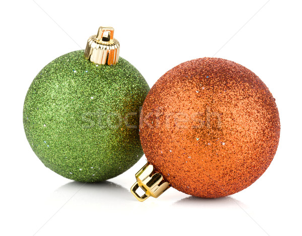 Two christmas balls Stock photo © karandaev