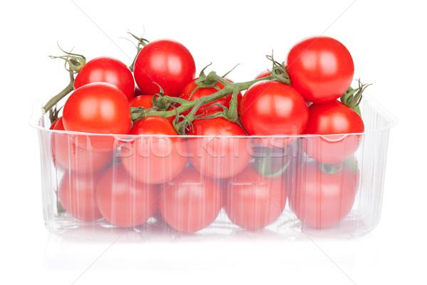 помидоры черри упаковка изолированный белый фрукты фон Сток-фото © karandaev