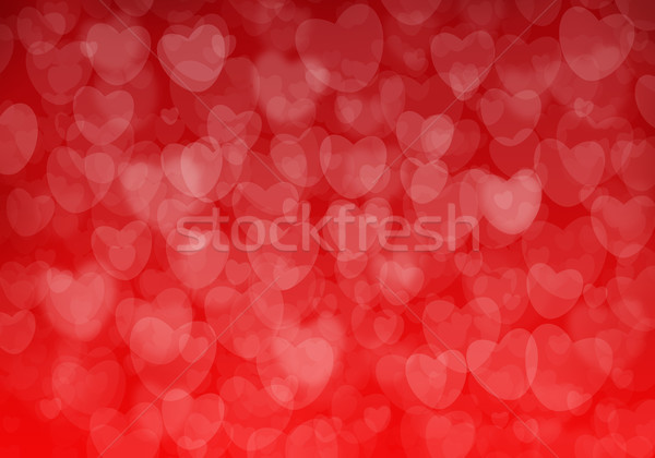 Valentine's day red hearts background Stock photo © karandaev