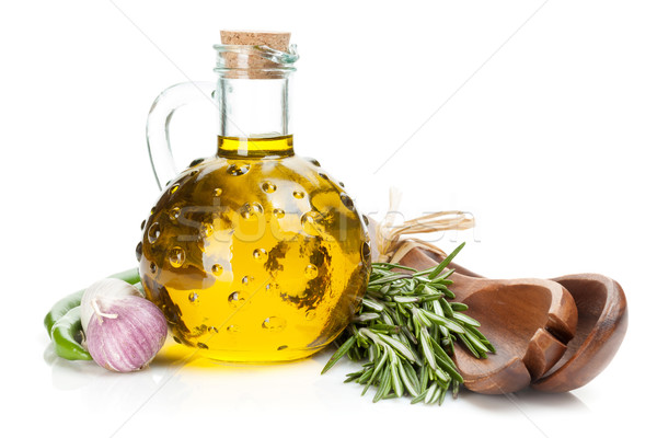 Spices, herbs and condiments Stock photo © karandaev