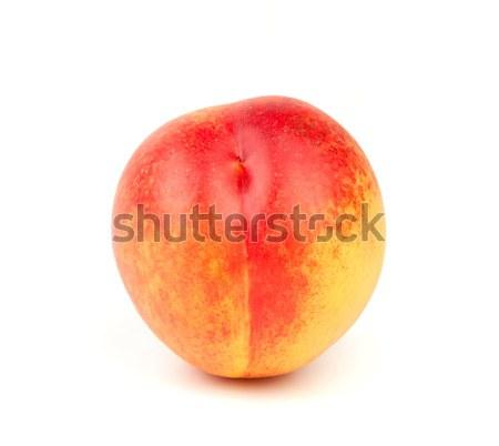 Fresco pêssego isolado branco comida fruto Foto stock © karandaev