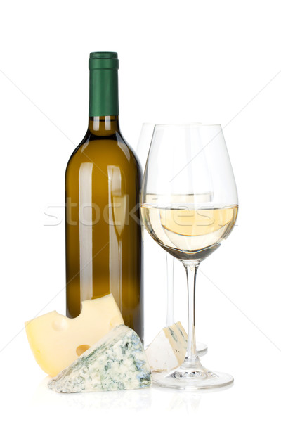 White wine and cheese Stock photo © karandaev