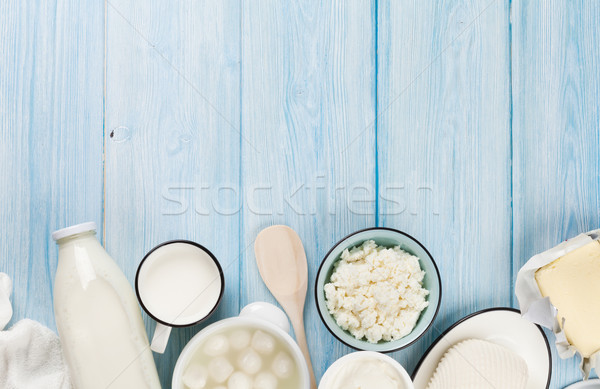 Sour cream, milk, cheese, yogurt and butter Stock photo © karandaev