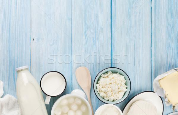 Nata leite queijo iogurte manteiga Foto stock © karandaev