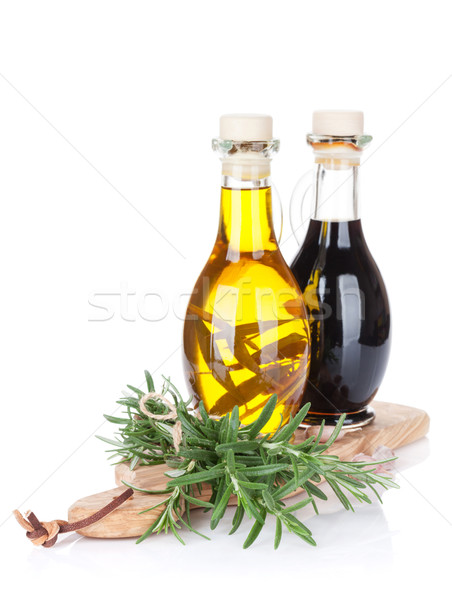 Fresh garden rosemary and condiments Stock photo © karandaev