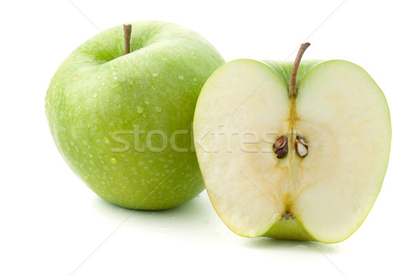 Ripe green apples Stock photo © karandaev