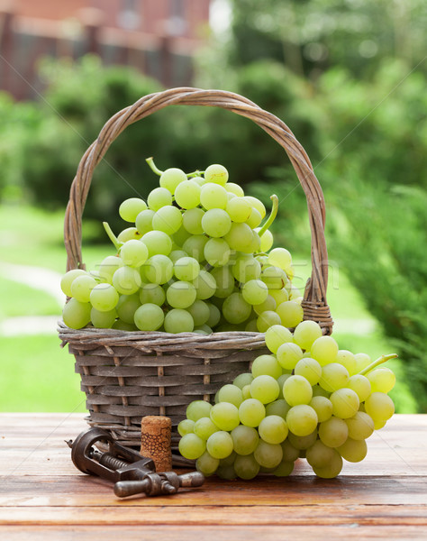 White grape basket Stock photo © karandaev