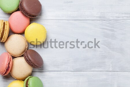 Colorful macaroons Stock photo © karandaev