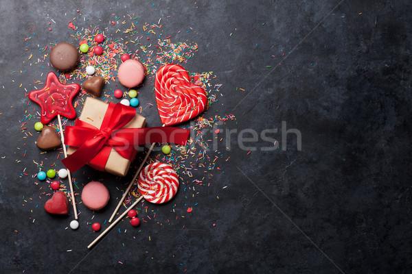 Сток-фото: красочный · конфеты · конфеты · шкатулке · Top · мнение