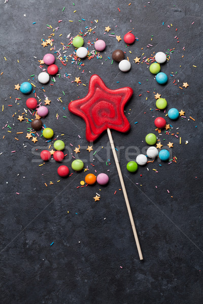 Colorful sweets. Lollipop and candies Stock photo © karandaev
