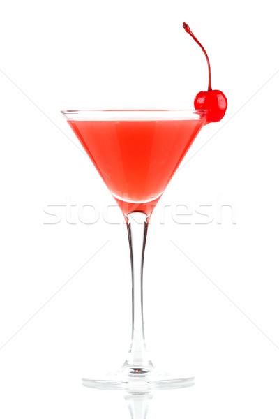 Stock photo: Alcohol cocktail with orange juice and grenadine