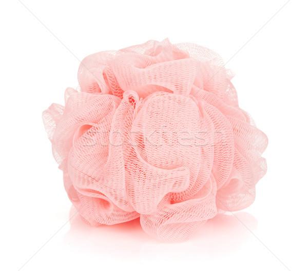 Stock photo: Pink bath puff